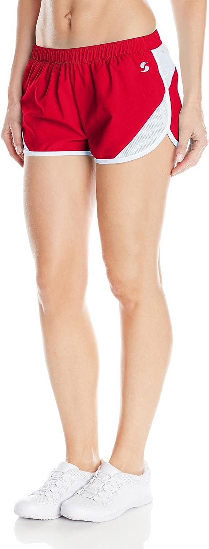 Soffe Women's Woven Mesh Insert Short: Clothing