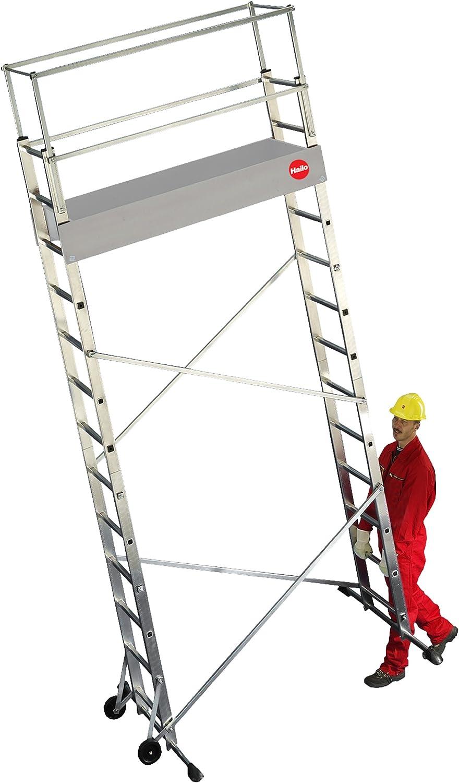 Alu-Leitern-Ger/üst Zusatzelement Hailo ProfiStep multi 9477-001 Arbeitsh/öhe: 500 cm made in Germany nur mit Grundelement verwendbar