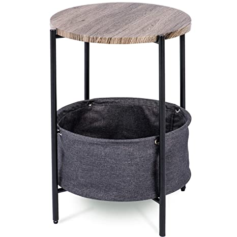 Amazon.com: Urest - Mesa auxiliar con almacenamiento de tela ...