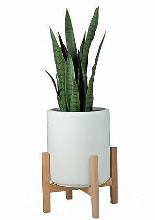 support de plante13 mid century moderne plante supportmoderne en bois pour plantes