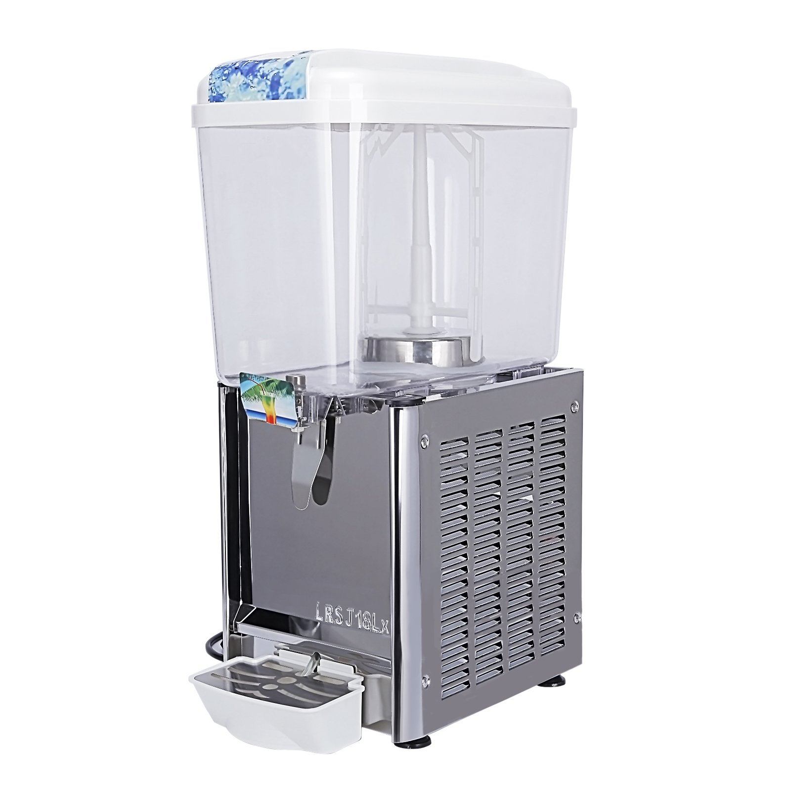 KUPPET Commercial Beverage/Juice/Drink Dispenser For Cold & Hot Drink, 4.75 Gallon 1 Tank, Restaurant Buffet Food Service Catering Beverage Dispensers, Cold 180W Hot 540W