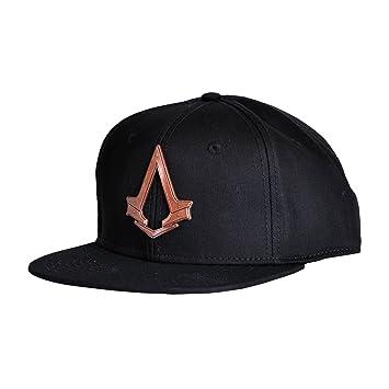 a99ffc39a21b9 Assassins Creed Syndicate Snapback Cap Baseball Cap with Metal Bronze Logo