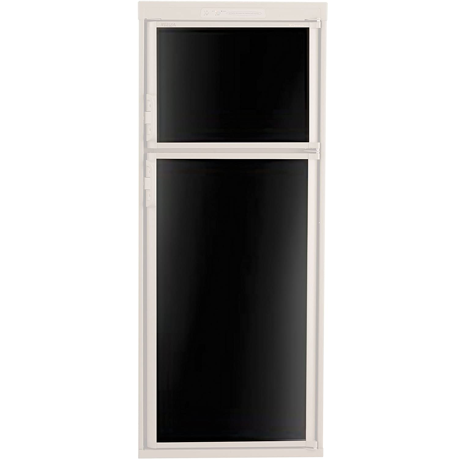 Dometic 3106863.073C Refrigerator Door Panel, Both Panels for RM2652/3662/3663 - Black Acrylic