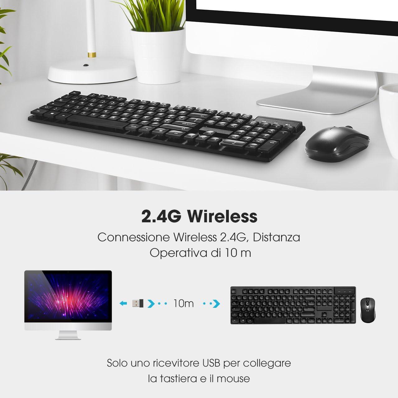Topelek Draadloze muis 2,4 GHz, Italiaans toetsenbord en