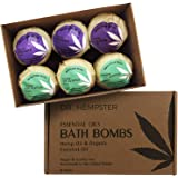 Natural Organic Bath Bomb Gift-Set - Coconut, Hemp and Essential Oils with a Blend of Refreshing Eucalyptus and Soothing…
