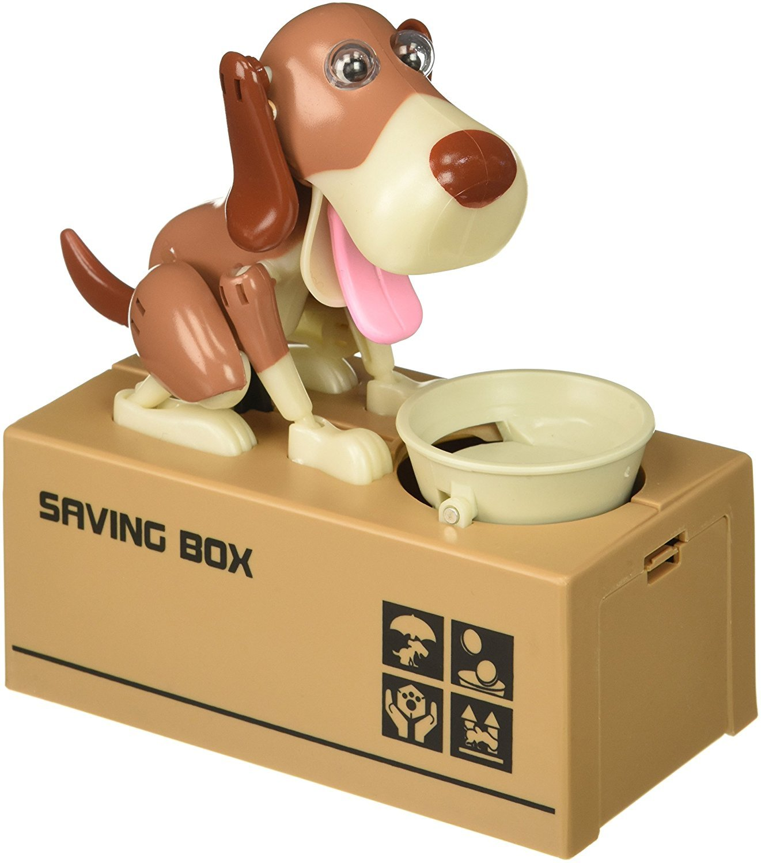My Dog Piggy Bank - Robotic Coin Munching Toy Money Box - Yellow by Bo-Toys