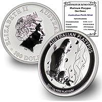 2011 AU 1 oz Australia Platinum Platypus Coin Brilliant Uncirculated PL$100 .9995 w/Certificate of Authenticity by…
