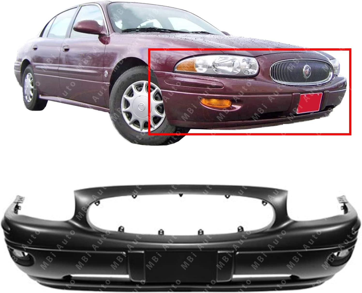 Front Fender Compatible with 2000-2005 Buick LeSabre Driver and Passenger Side