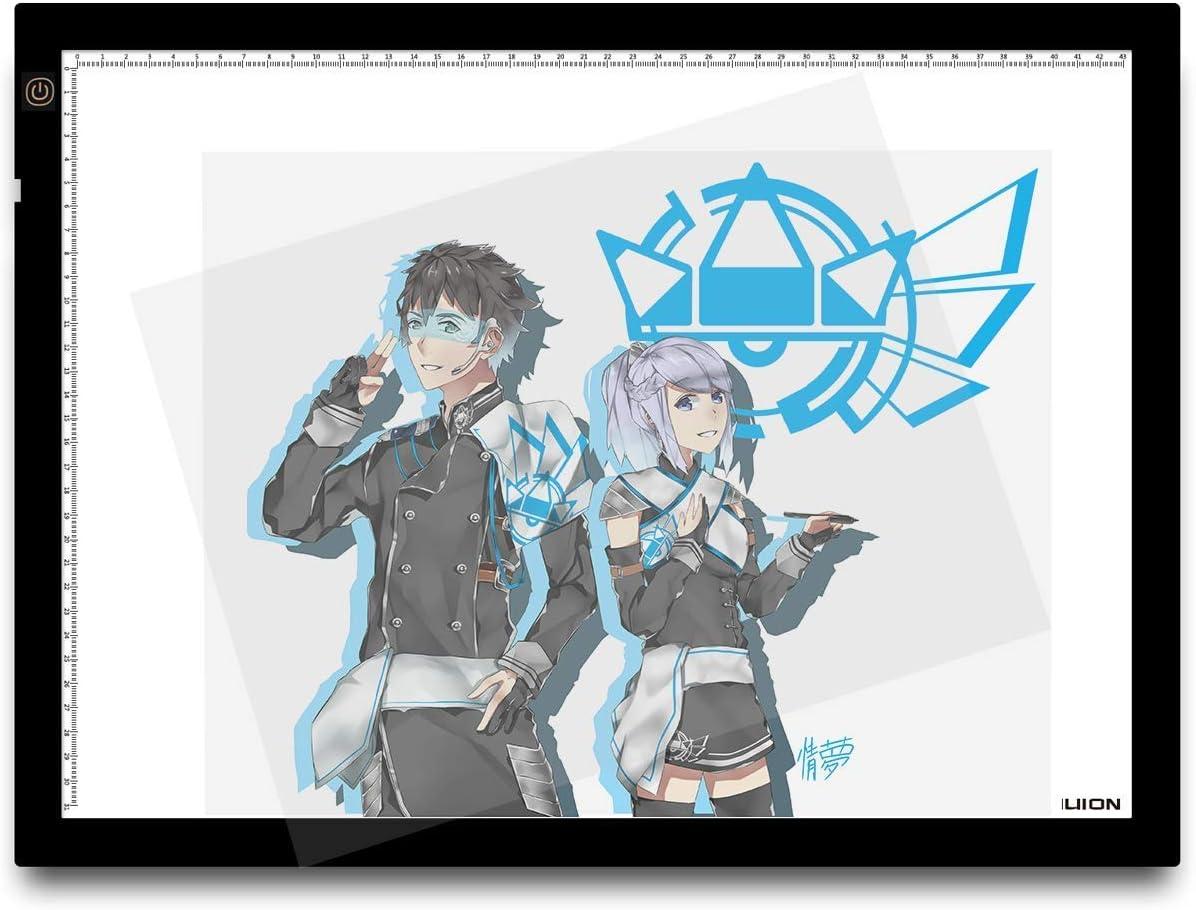 Huion A3 – Tablero de trazado digital para artes gráficas con luz LED de 23.5 pulgadas. Color negro y blanco: Amazon.es: Hogar