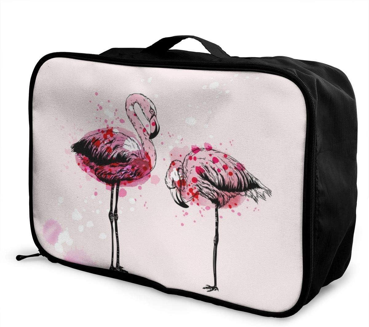 Yunshm Hand Drawing Flamingo Birds Vector Image Personalized Trolley Handbag Waterproof Unisex Large Capacity For Business Travel Storage