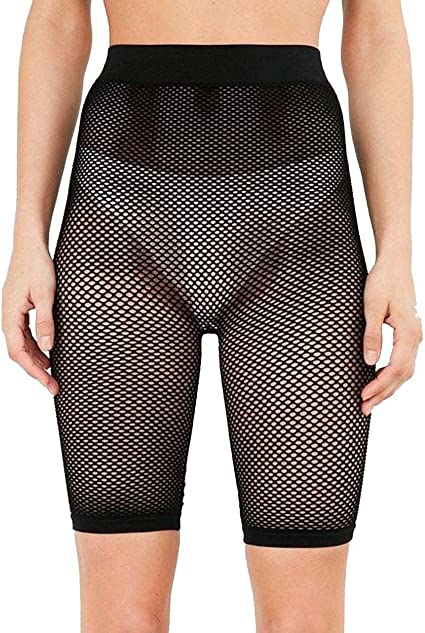 WOMEN//LADIES CYCLING SHORTS FISHNET NET New HOT See Through  One Pair
