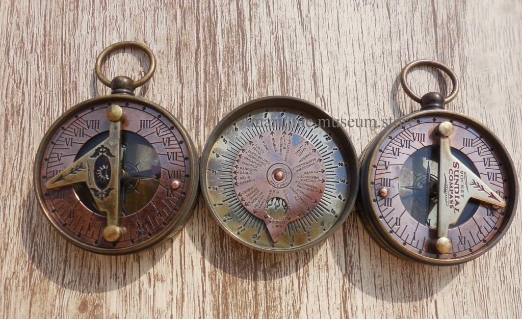 MAH Pocket Brass Sundial Compass, Both Side Work on The Bird. C-3005 by MAH (Image #7)