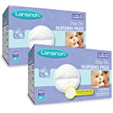 Lansinoh Stay Dry Disposable Nursing Pads (100 x 2), 200 Count