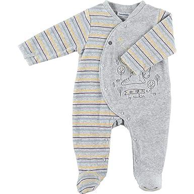 b24f0209a847f Noukie s Noukies Z883132 Pyjama grenouillère en Velours Bébé Garçon   Amazon.fr  Vêtements et accessoires