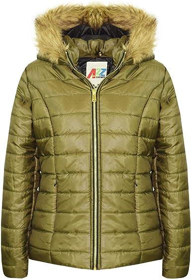 A2Z 4 Kids/® Kids Girls Hooded Jacket Faux Fur Parka School Jane Jackets Outwear Coats New Age 7 8 9 10 11 12 13 Years