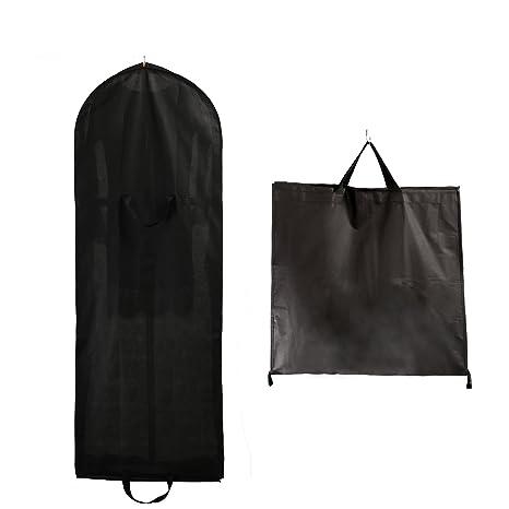 TUKA Transpirable bolsa de ropa, aprox. 149 cm, con cremallera de calidad. para vestidos de fiesta, trajes, abrigos, - 2 bolsillos para accesorios - ...
