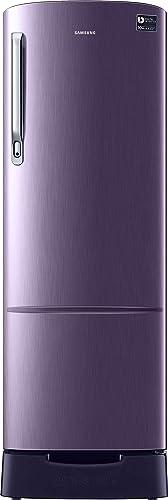 Samsung 255 L 3 Star Inverter Direct Cool Single Door Refrigerator RR26T389YUT/HL, Pebble Blue, Base Stand with Drawer  Refrigerators
