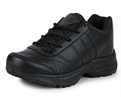 4a75a5abee42c Touchwood Black School Shoes for Boys (with Laces)
