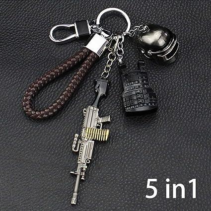 5 en 1 PUBG Arma Guns Pistola 3D Modelo Llavero de Metal ...