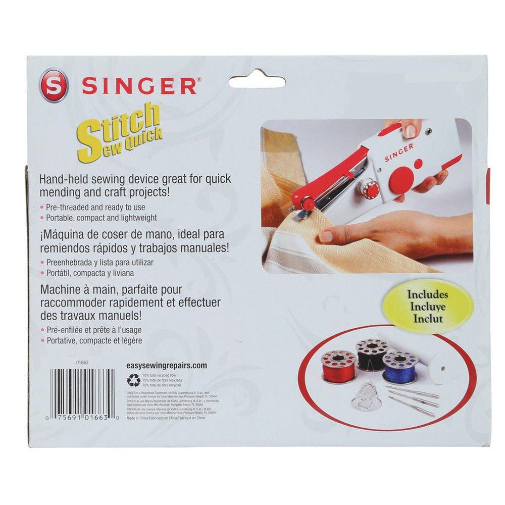 Amazon.com: Armyshop Quick Handy Cordless Repair Singer Portable Stitch Sew Hand Held Sewing Machine