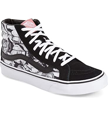 Vans Sk8-Hi Slim Digi Roses Black/True White Size 3.5 Mens/5 Womens EZhU3CKvM