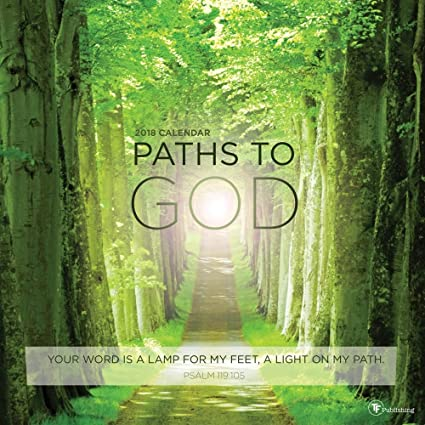2018 paths to god wall calendar