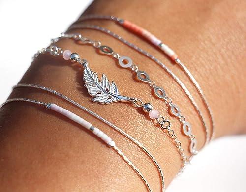lot bracelet argent femme