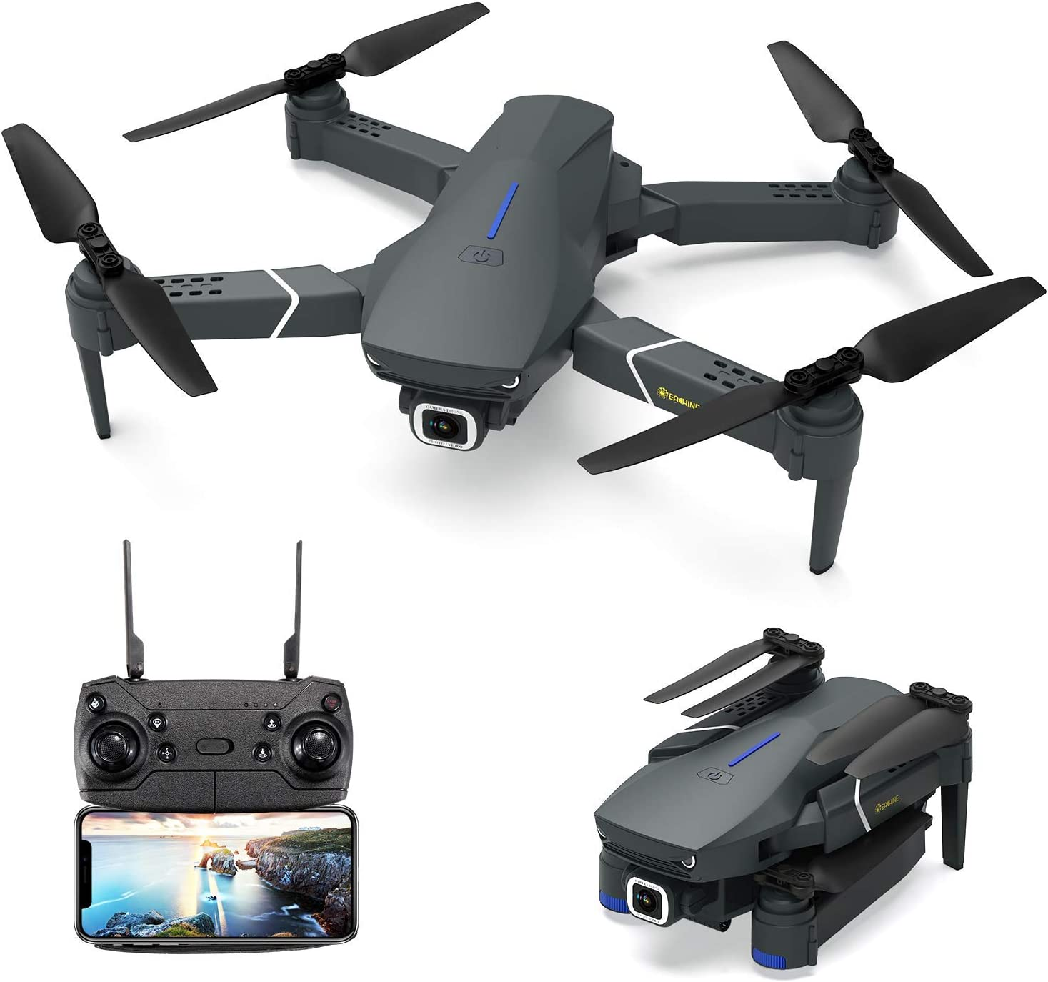 EACHINE E520 Drone with 4K Camera Live Video,WiFi FPV Drone for Adults with 4K HD 120° Wide Angle Camera 1200Mah...