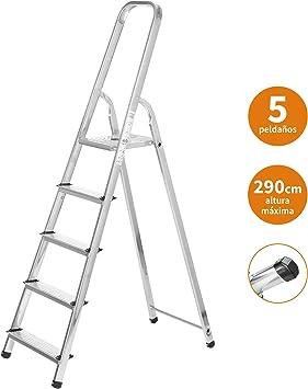 Escaleras Plegables Aluminio 5 Peldaños de Tijera Super Resistente ...