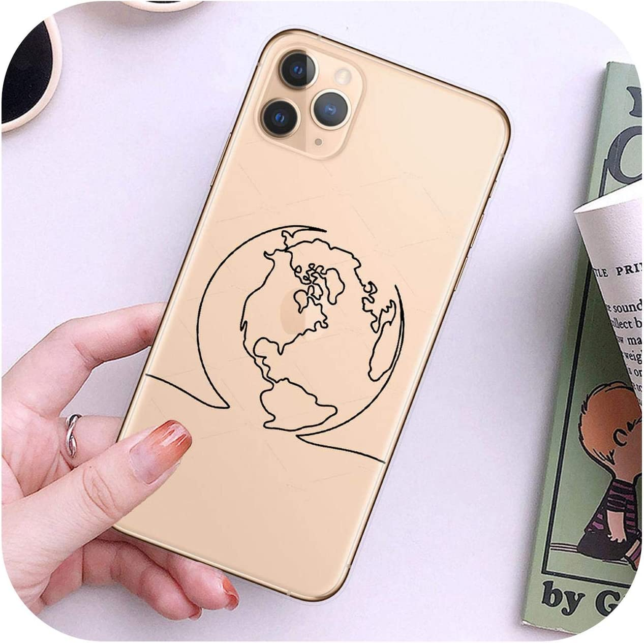 Double-June World Map Travel Just Go Phone Case for iPhone Xs Max X 11Pro Xr 7 8 6 6S Plus 5 Se Soft Back Cover Coque-T9361-For iPhone 11