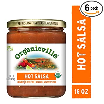Organicville Hot Salsa, 6 Jars (16-oz ea); The Spicy and