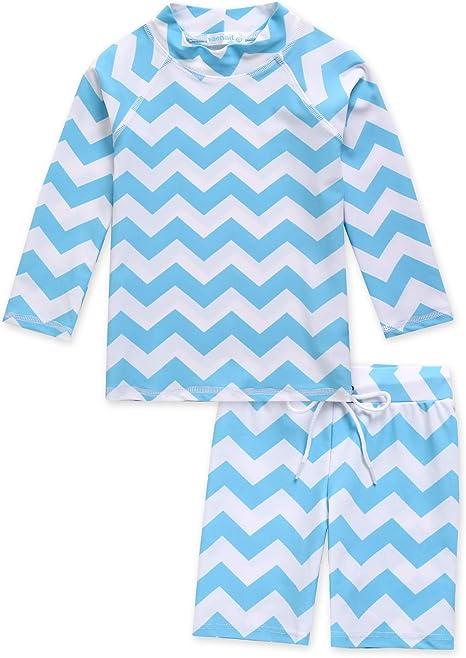 VAENAIT BABY 2T-7Y Toddler Kids Boys Girls UPF 50+ UV Protection Quick Dry Rashguard Swimsuit Bathing Suit Set