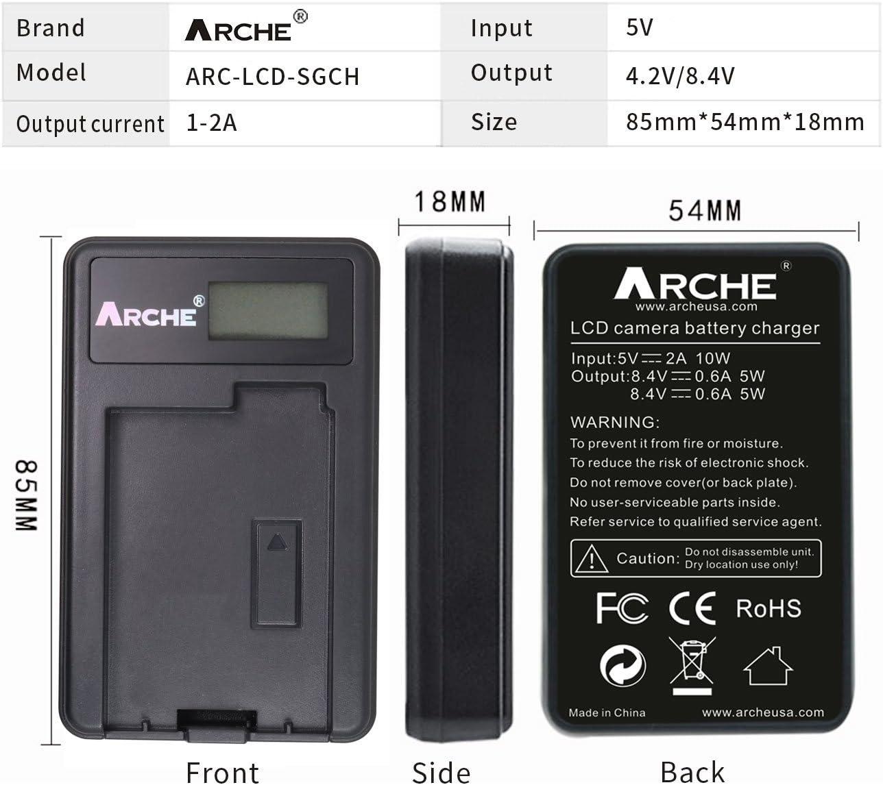Nikon DSLR D500 D600 D610 D750 D800 D800E D810 D810A D850 D7000 D7100 D7200 D7500 Nikon 1V1 EN-EL15 EN-EL15A ARCHE LCD Single Slim USB Charger for