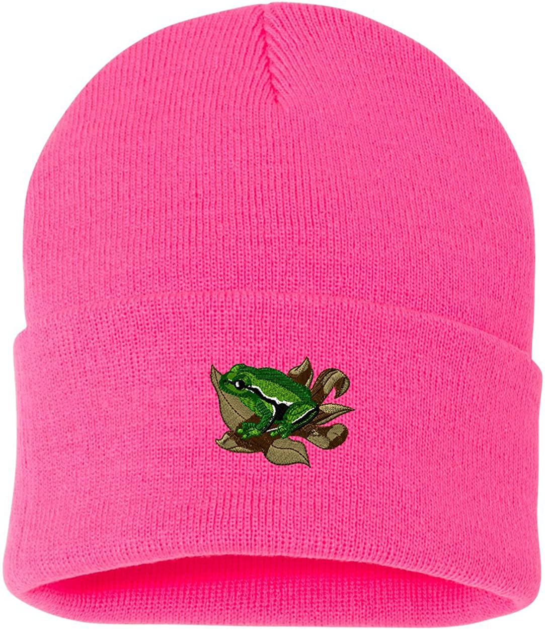 European Tree Frog Custom Personalized Embroidery Embroidered Beanie