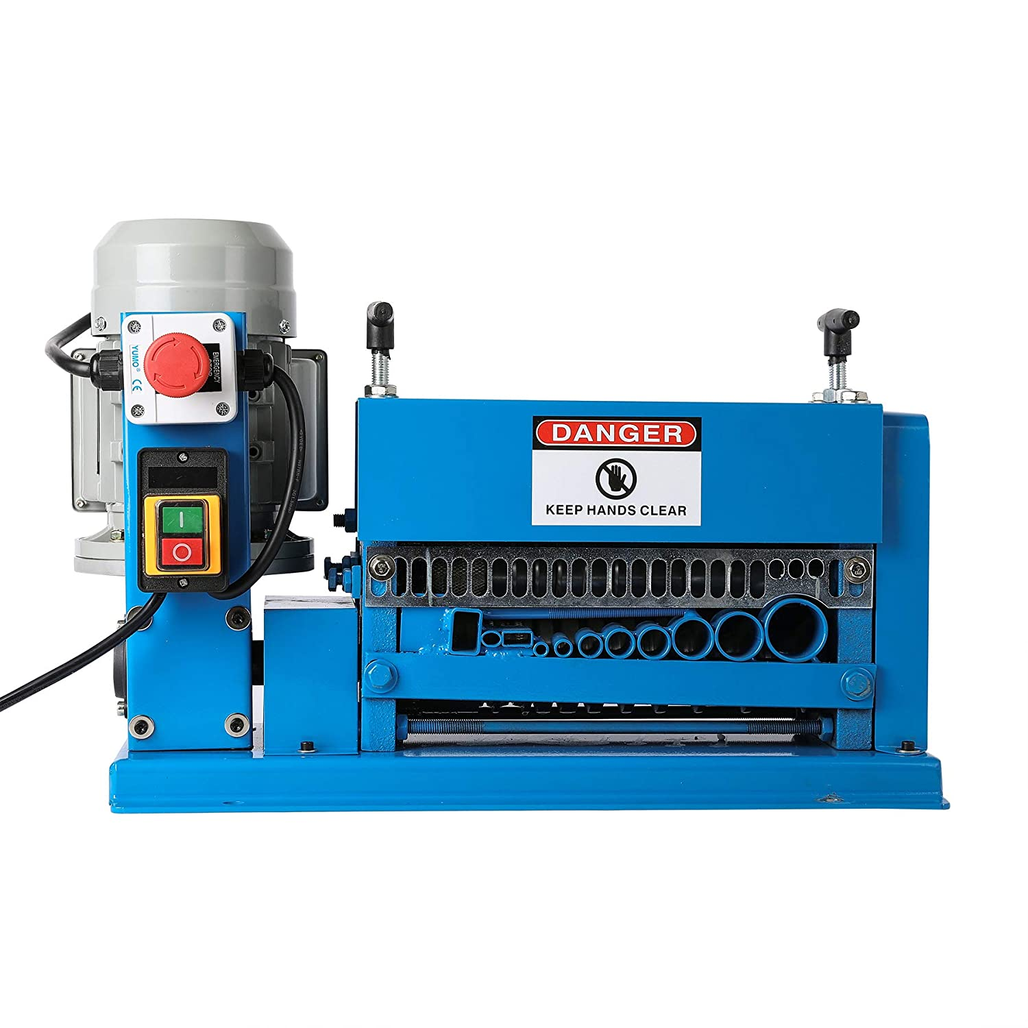 CO-Z Wire Stripping Machine 1.5mm to 38mm Diameter with 11 Channels Wire Stripping Machine Tool Manual Hand Cranked Industrial Wire Stripping Equipment
