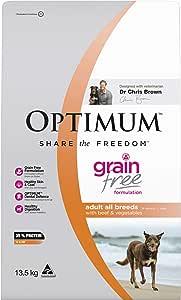 OPTIMUM Adult Grain Free with Beef & Vegetables Dry Dog Food 13.5kg Bag