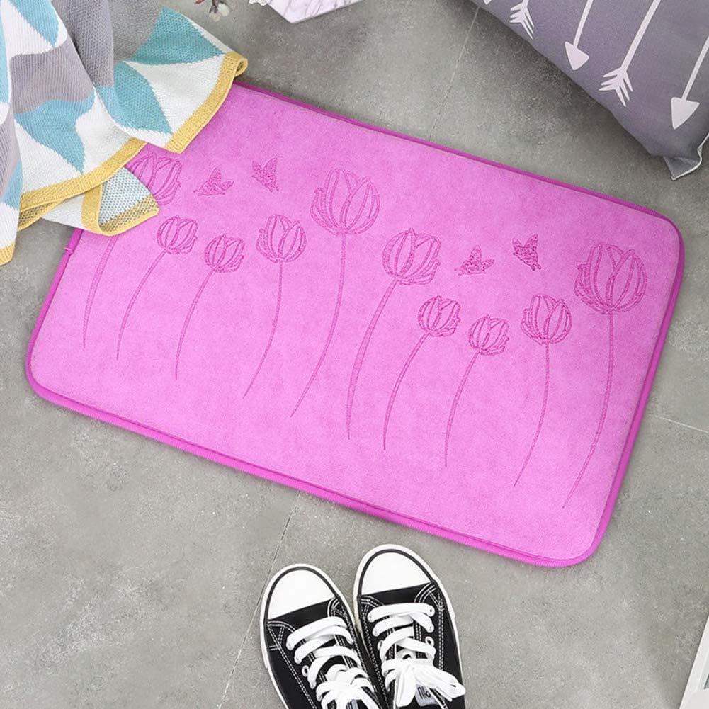 Purple 80x100cm(31x39inch) Door mat,Carpet Entrance mat Front Entrance Door mat Bathroom Non-Slip mat Household Pad Carpet Indoor Doormat-Brown 80x100cm(31x39inch)