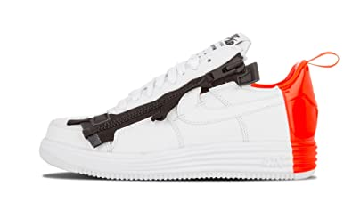 huge selection of b4221 21d1d Image Unavailable. Image not available for. Color NIKE Lunar Force 1 SP  Acronym White Bright Crimson ...