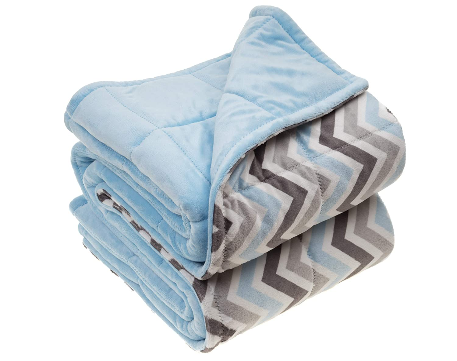 XL 54x68 inches XXL 54x80 inches L 42x60 inches Luxury Minky Weighted Sensory Blanket for Adults
