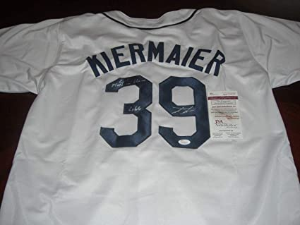 detailed look 7461c 670a9 Kevin Kiermaier Autographed Jersey - Outlaw 2x Gg 2015 ...