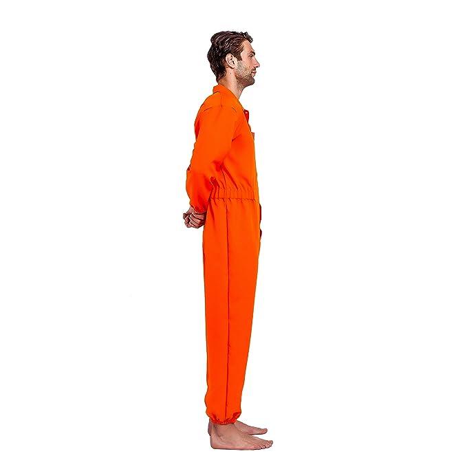 Amazon.com: Mono prisionero naranja con etiqueta para nombre ...