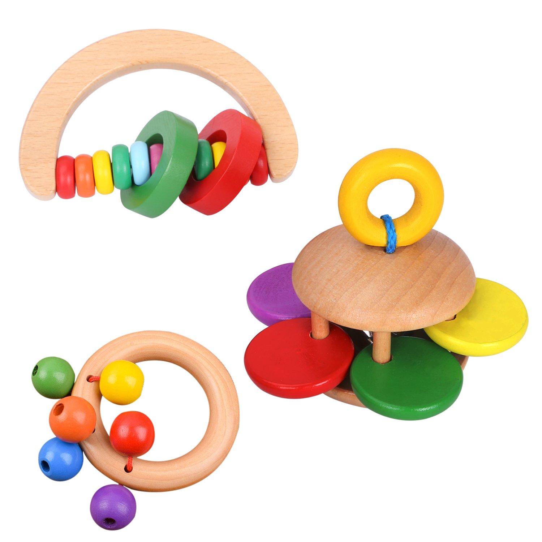 Juguetes de Percusión de Madera CAHAYA Sonajeros para Bebés Instrumentos Musicales para