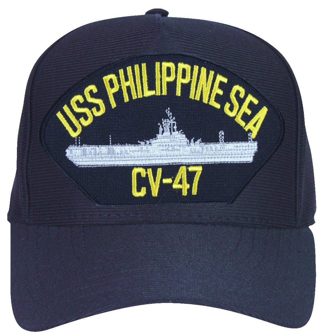 Amazon.com  MilitaryBest USS Philippine Sea CV-47 Ships Ball Cap with  Custom Back Text  Sports   Outdoors 33032448ef1