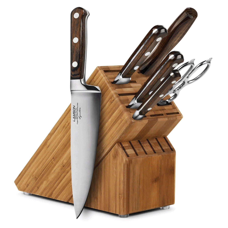 Lamson Signature 7-piece Bamboo Knife Block Set