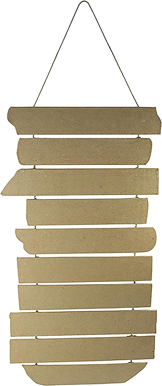 Brown 9x19x19 cm D/écopatch Mache Round shelf