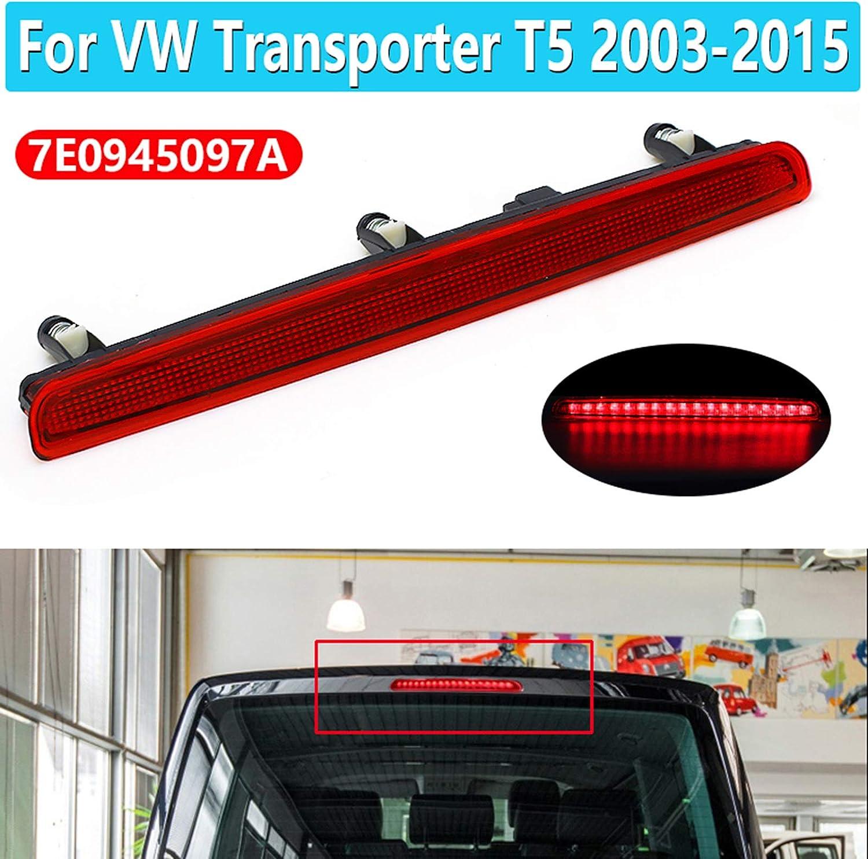 Grtodnz Zusatzbremsleuchten Dritte Bremsleuchte Bremslicht Heckleuchte Dritte Bremse hinten Stop Licht for Transporter T5 2003-2015 7E0945097A