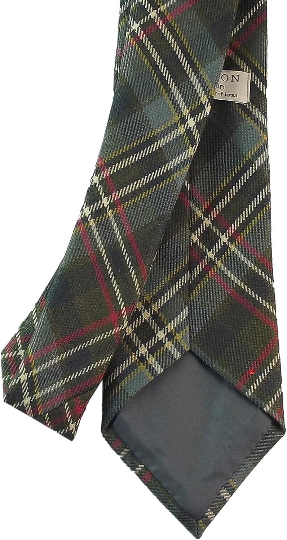 Clan Tie Scott Green Modern Tartan Pure Wool Scottish Handmade Necktie