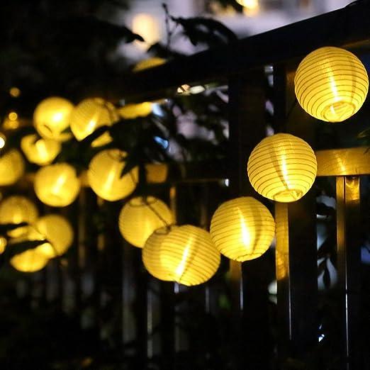 Ankouja Solar Lichterkette Aussen Solarlampen Gartenleuchte 30 Led