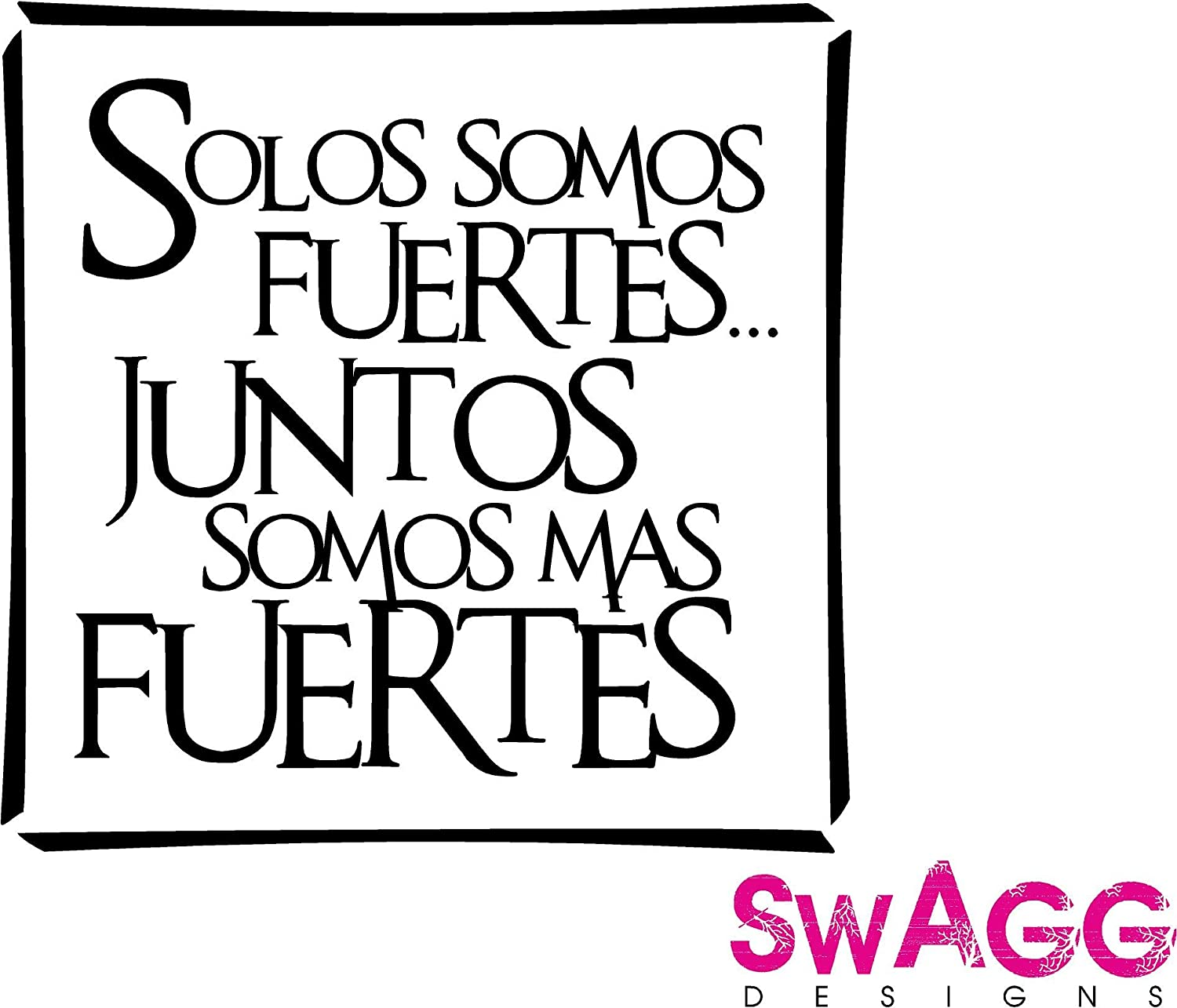 Juntos Somos Mas Fuertes, Spanish Family vinyl wall art decals sayings  words lettering quotes home decor: Amazon.co.uk: Kitchen & Home