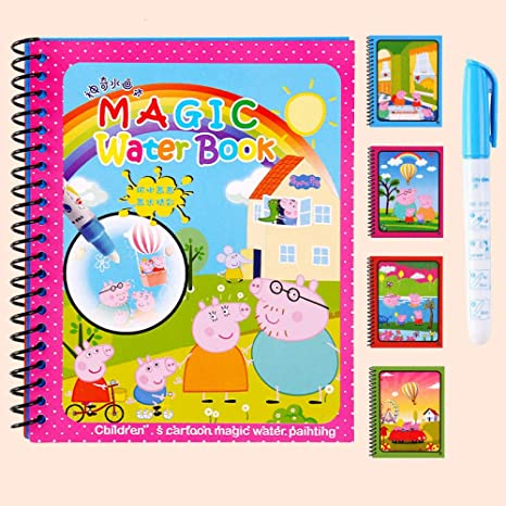 Amazon Com Plieng Magic Water Doodle Book Kids Water Drawing Colouring Book Doodle Mat Painting For Children 15 Home Kitchen